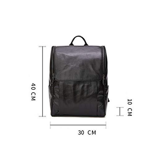 Mochila Hombro para Anti Brown College a de sintético Cuero de Black Backpack Hombres Prueba Business Tsutou Theft Laptop Agua Mochila Color nY0wqg4g1