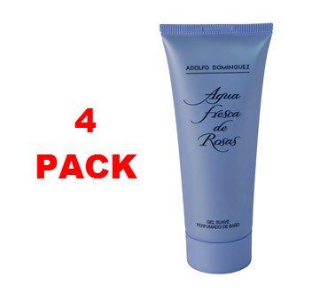 adolfo-dominguez-agua-fresca-de-rosas-gel-100ml-pack-of-4