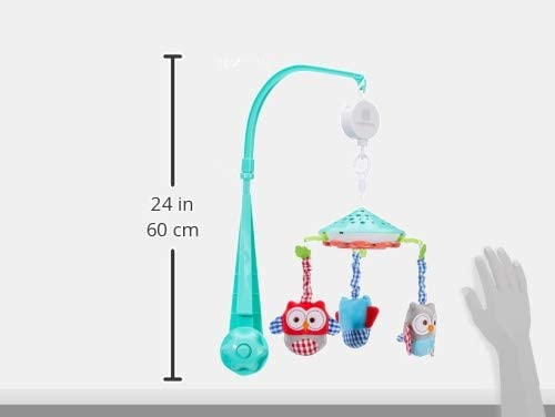 Kikka Boo Musical Carousel with Projector Owls Green Mobile