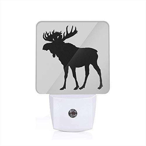 Moose Logo Night Light with Auto Dusk to Dawn Sensor for Bedroom, Bathroom, Stairs