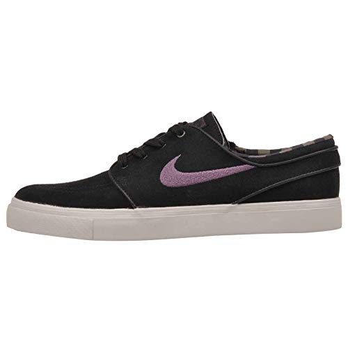 Nike Men's Zoom Stefan Janoski Black/Pro Purple Ridgerock Skate Shoe 9 Men - Mid Skate Top Shoe