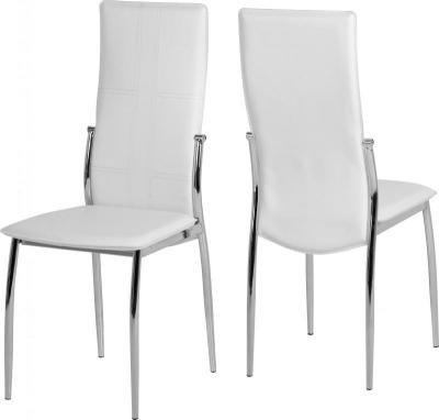 Berkley sedie in ecopelle bianca e cromata: Amazon.it: Casa e cucina