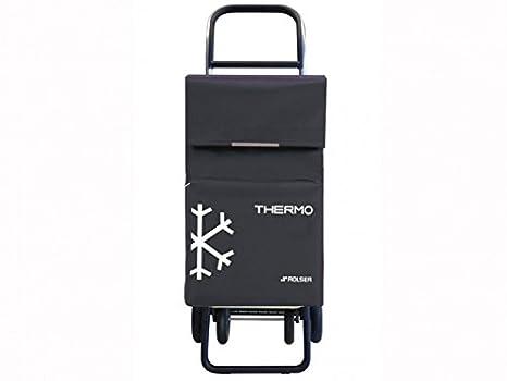 Rolser TER039 Quattre - Carro de la compra con 4 ruedas y bolsillo térmico, color gris Marengo: Amazon.es: Hogar