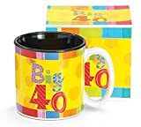 BIG 40 Birthday MUG Over the Hill BIG 4-0! Gift Boxed