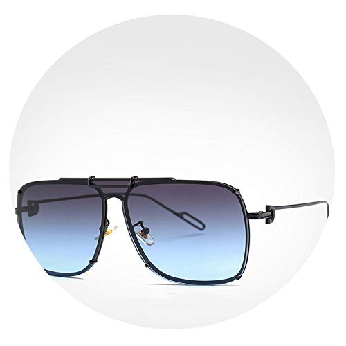 Ice Blue Sunglasses Brand Designer Square Sun Glasses Women Heren Zomer Brillen G23064,Gray-Blue Non-Mirror (Driving Brillen)