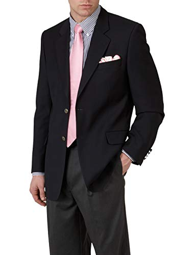 Jack Victor Two Button - Jack Victor Big and Tall Classic Blazer (48 Long, Navy)