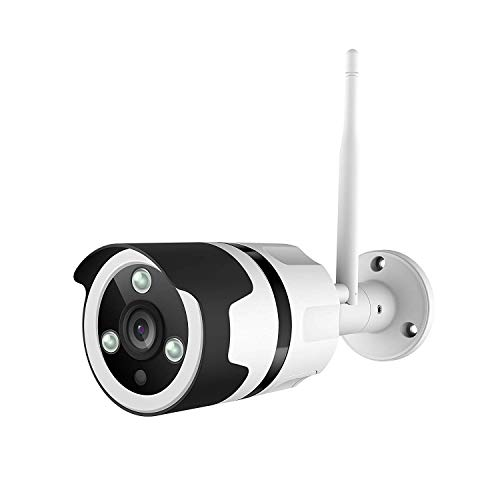 Netvue Outdoor Security Camera, 1080P Vigil Two-Way Audio Bullet Camera, IP66 Waterproof Surveillance Camera FHD Night Vision, Motion Detection, Max 128GB Micro SD Card Supported