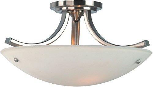 Feiss SF189BS/PN Gravity Glass Semi Flush Ceiling Lighting, Satin Nickel, 3-Light (16