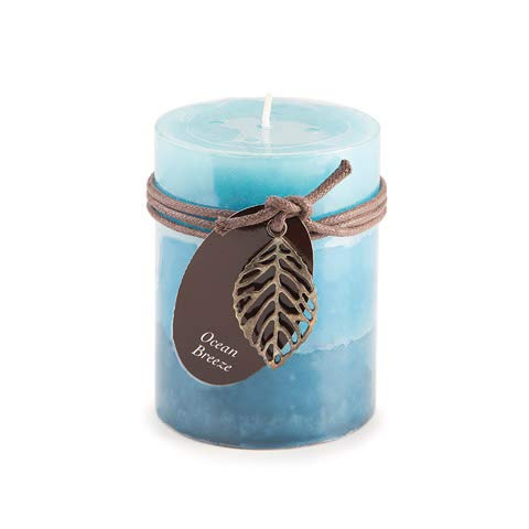 - Dynamic Collections DYN3510 Candle Pllr Ocean 3X4In, Multicolor