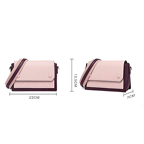 Messenger tendenza del donne rosa semplice Yxpnu quadrato per Bag versione le colore coreana dUqAv