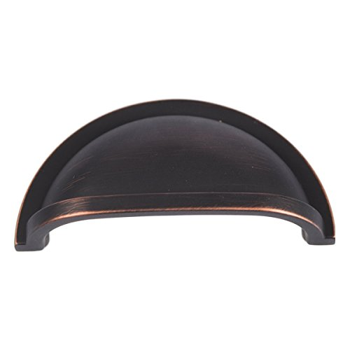 - Hickory Hardware P3055-VB Williamsburg Cup Cabinet Pull, 3-Inch, Vintage Bronze