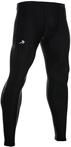 Compression Pants Men's Tight Base Layer Leggings, XXL, Black