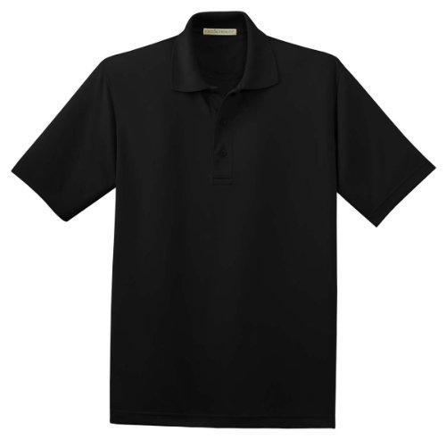 Bamboo Pique Sport Shirt, Color: Black, Size: Small - Bamboo Pique Polo
