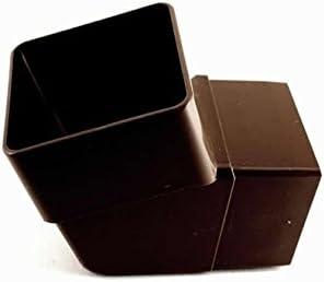 Marshall Tufflex Square 65mm Down Pipe 112 degree Offset Angle Bend Elbow RWSB2 Black White Brown Clay BLACK