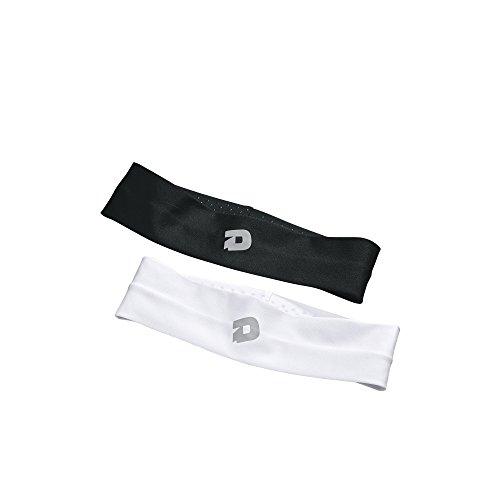 (DeMarini Womens Headband - 2 Pack, Black & White, One Size)