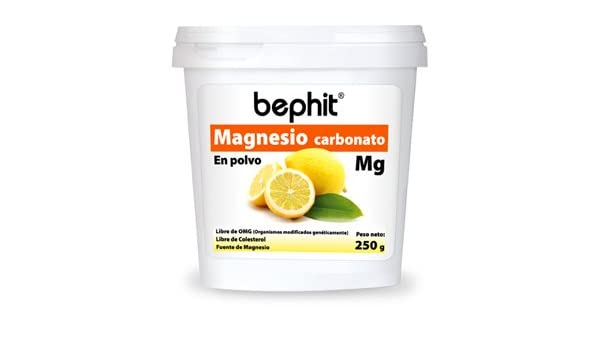 MAGNESIO CARBONATO SABOR CÍTRICO BEPHIT - Polvo bote 250 g: Amazon ...