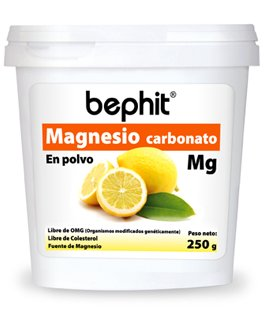 MAGNESIO CARBONATO SABOR CÍTRICO BEPHIT - Polvo bote 250 g: Amazon.es: Salud y cuidado personal