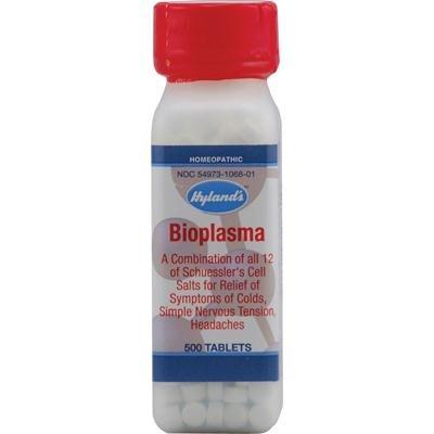 Hylands Bioplasm Cell Salt Tablet - 500 per pack - 3 packs per case.