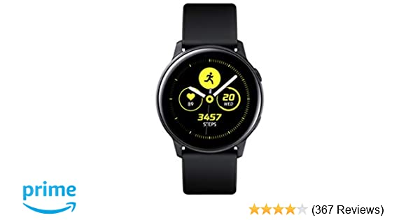 4b5a1b3ee86c07 Amazon.com: Samsung Galaxy Watch Active (40mm), Black - US Version with  Warranty: Cell Phones & Accessories