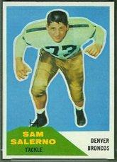 1960 Fleer Estimable (Football) Card# 6 Sam Salerno of the Denver Broncos VGX Condition