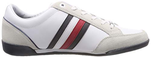 Hilfiger Material Tommy Cupsole Corporate Blanco 100 Zapatillas Mix white Hombre Para Hqpd6w1xp