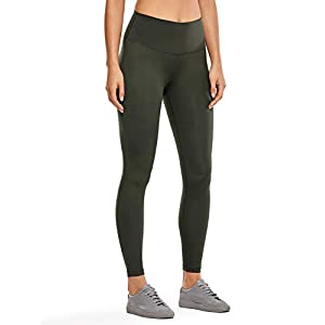 CRZ YOGA Non-See Through Athletic Compression Leggings Hugged Feeling Tummy Control Workout Leggings for Women 25Inches