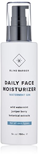 Blind Barber Watermint Gin Daily Face Moisturizer - Face Cream & Aftershave Lotion for Men, All Skin Types (5 Ounces, 150 Milliliters)