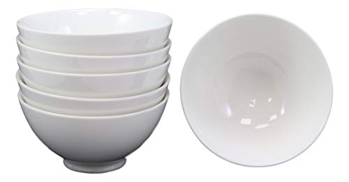 """Ebros Gift Restaurant Supply Contemporary White Double Walled Porcelain Rice Bowls 8oz 4.5""""Dia Ideal Bowl For Miso Soup Ice Cream Appetizer Condiments Dips Serveware Home Kitchen"""