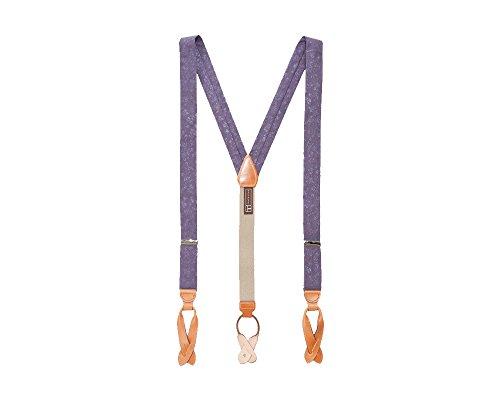 - Trafalgar Purple Rosolini Silk Floral Suspenders