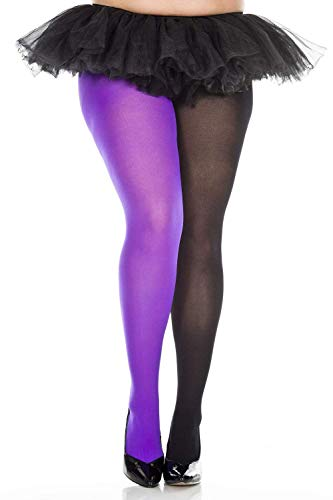 Plus size opaque jester tights]()