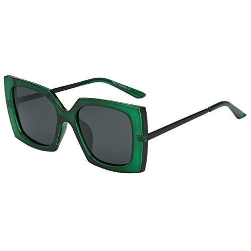 (BEEAN Polarized Sunglasses Trendy Stylish Sun Glasses for Women Men, Green, Black)