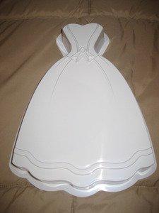(CK Products 49-5202 Plastic Princess Dress Cake Pan, White)
