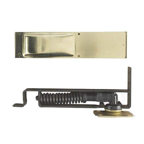 Bommer 7800 Series Cast Steel Horizontal Type Medium Duty Spring Pivot with Floor Plate, Steel Side Plate, 1.37