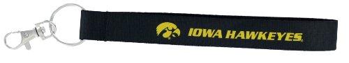 aminco NCAA Iowa Hawkeyes Wristlet Key Ring - Iowa Hawkeyes Logo Keychain