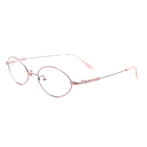 Women's Oval Full-Rim Memory Metal Prescription Eyeglass Frames - Rim Frames Full Eyeglasses Metal