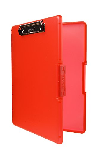 Dexas 3517-J101 Slimcase 2 Storage Clipboard with Side Opening, Strawberry