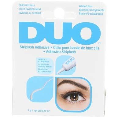 Duo Eyelash Striplash Adhesive White/Clear 0.25 Ounce (6 Pieces) (7ml)