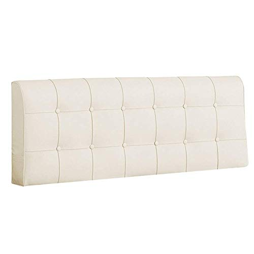 ZYH for Without Headboard Faux Leather Material Padded with High Resilience Foam 10cm Thickness 4 Colors 5 Sizes Optional (Color : Cream, Size : 160x10x58cm)