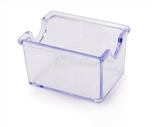 New Star Foodservice 28447 Plastic Sugar Packet Holder, Clear, Set of (Sugar Caddy Packet Holder)