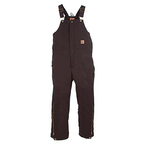 Berne Apparel BB20 Youth's INS Bib Quilt Lined Overall Black Medium