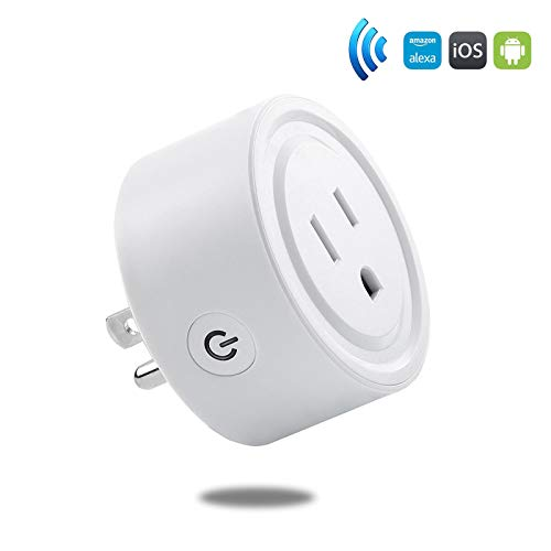 ITTOS Mini smart Wi-Fi Smart Socket Outlet US Plug, Turn ON/OFF Electronics from Anywhere, Compatible with Alexa