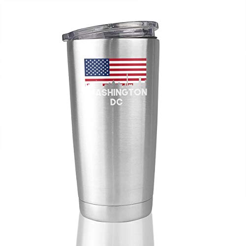 Washington DC American Flag 20 Oz Stainless Steel Tumbler Vacuum Insulated Travel -