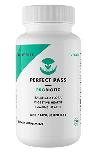 (Perfect Pass Probiotic Bacillus Spore Human Strain 30 Capsules - All Natural Vegetarian 100% Stomach Acid Survival)