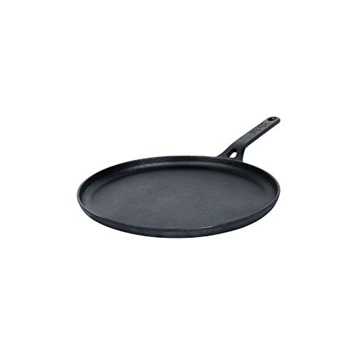 Meyer-Pre-Seasoned-Cast-Iron-Dosa-Flat-Tawa-Black-24cm