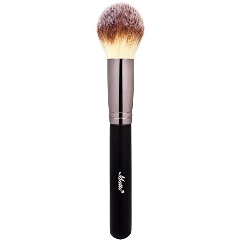 Matto Powder Contour Makeup Brush - Mineral Foundation Highlight Blush Kabuki Brush Blending Contouring Buffing Make Up Brush for Face Cheekbones Forehead Jawline 1 - High Shape Cheekbones Face