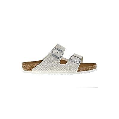 Birkenstock Arizona Magic Snake White Womens Leather Sandals Shoes