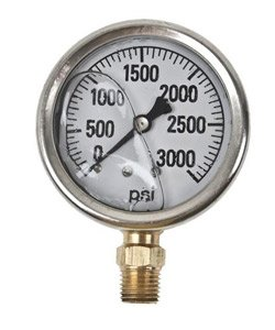 GAUGE-3000 PSI LIQUID FILL SS CASE (Fill Liquid Gauge Ss)