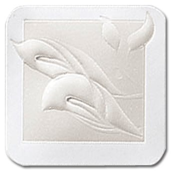 Masterpiece Embossed Calla Lily Embossed & Pearl Foil Seal - 25 Seals
