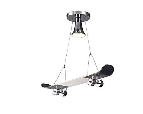 DGS Chandelier Lighting Novelty Skateboard Creative Silver Chandelier