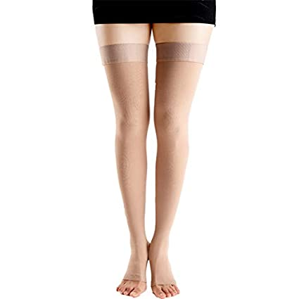4818ca8ef2 Designeez Level 2 A Pair Medical Socks Compression Stockings Varicose Veins  23-32mmHg Pressure Mid-Calf Length For Both Man And Wowan - Size: M:  Amazon.in: ...
